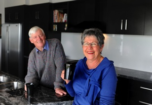 Brendan & Roslyn Scanlan in their new kitchen